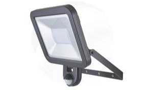 Professional PIR security light installation