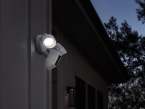 Ring Floodlight Camera installed on side of property