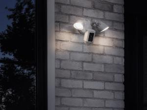 Ring Floodlight Camera brick wall installation